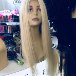 Accessories - Blonde long wig human hair blende 30+ inch Long